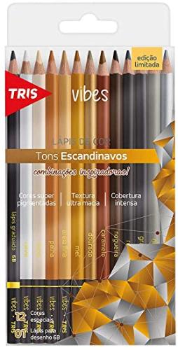 LAPIS DE COR VIBES TONS ESCANDINAVOS C/ 13 CORES