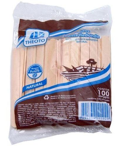 PALITO DE PICOLE NATURAL C/100 (COMUM)