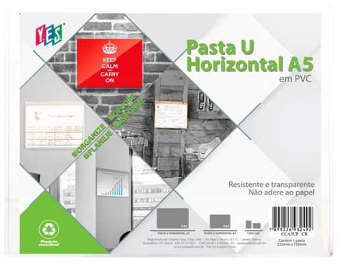 PASTA U HORIZONTAL A5 EM PVC