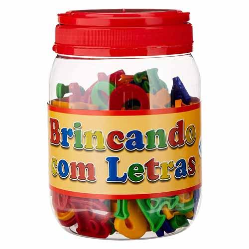 POTE PLASTICO BRINCANDO COM LETRAS