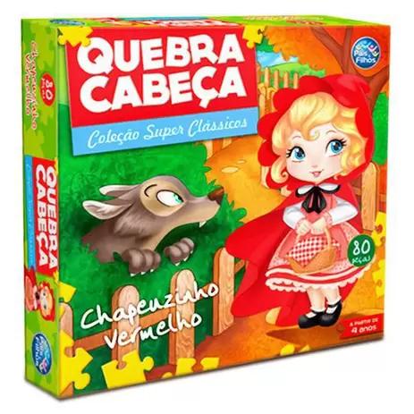 QUEBRA CABECA CHAPEUZINHO VERMELHO 80 PECAS
