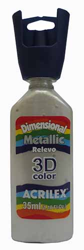 TINTA DIMENSIONAL METALICA 35 ML  BRANCO