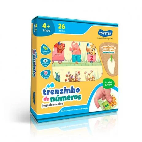 TRENZINHO DE NUMEROS MADEIRA