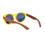 Óculos de Sol de Acetato com Bambu Jasmine Yellow
