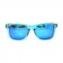 Óculos de Sol de Acetato com Madeira Maranzano Blue