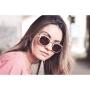 Óculos de Sol de Madeira e Metal Lucchese