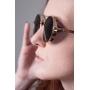 Óculos de Sol de Madeira e Metal Vito Gold