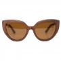 Óculos de Sol de Madeira Teca Brown