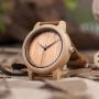 Relógio de Madeira e Bambu Dean