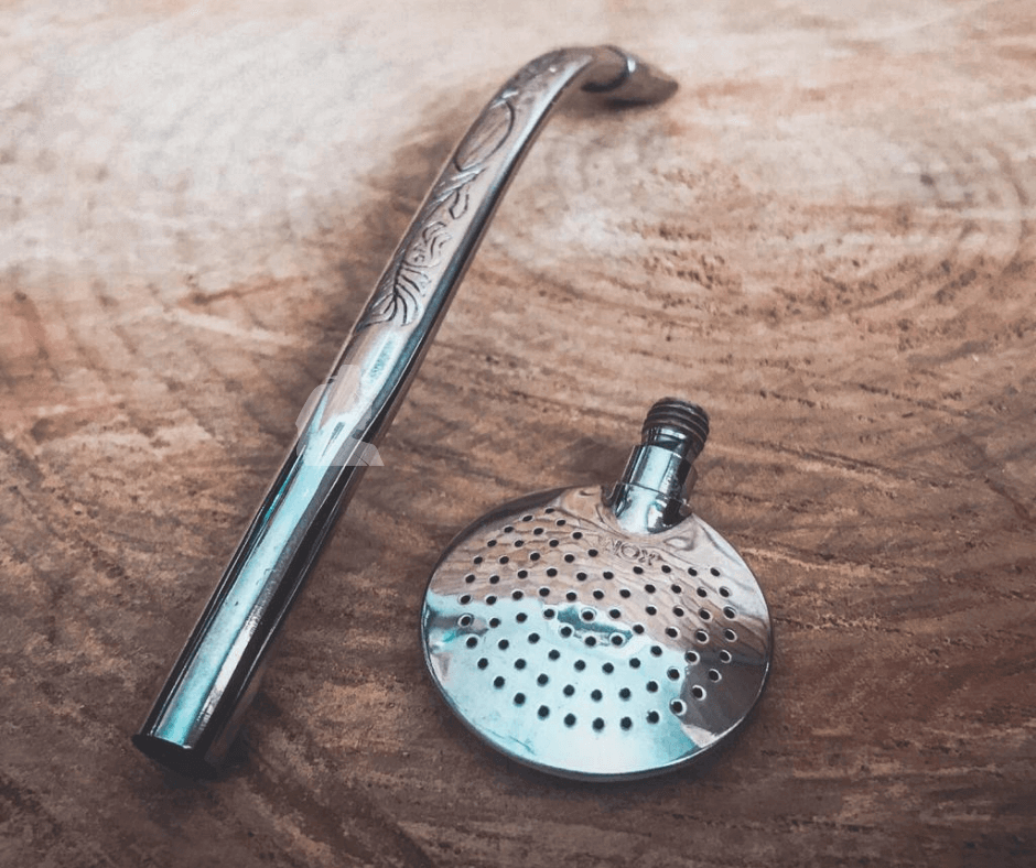 Bomba Curva Uruguaia Desmontável c/ escova