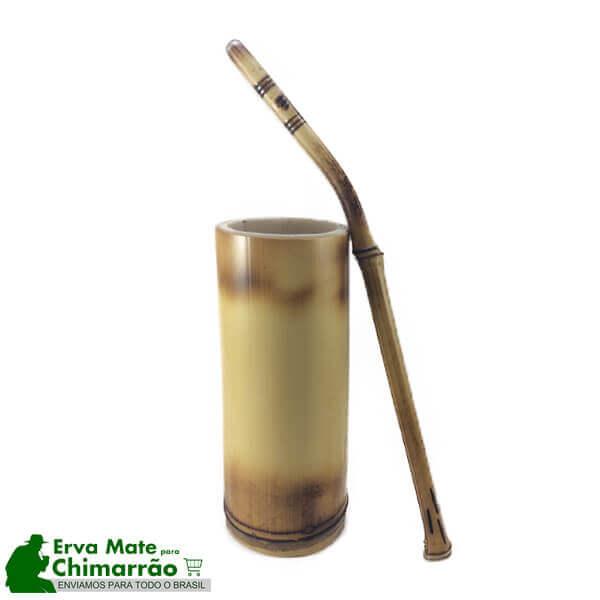 Bomba e Copo de Bambu para Tererê