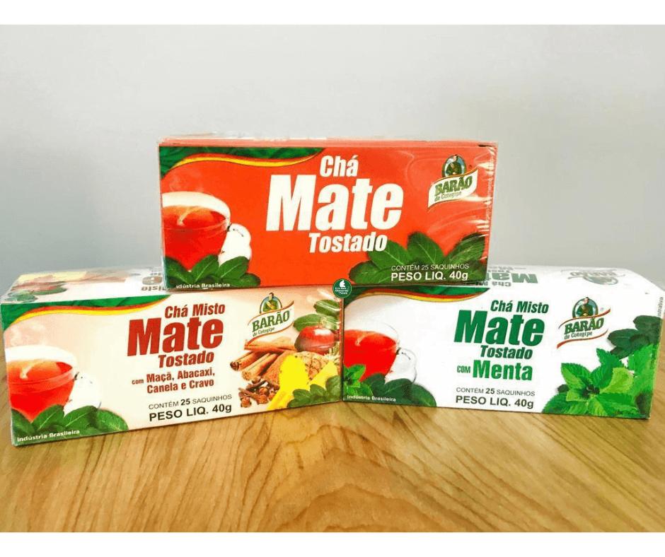 Chá Mate Tostado com Maçã, Abacaxi Cravo e Canela