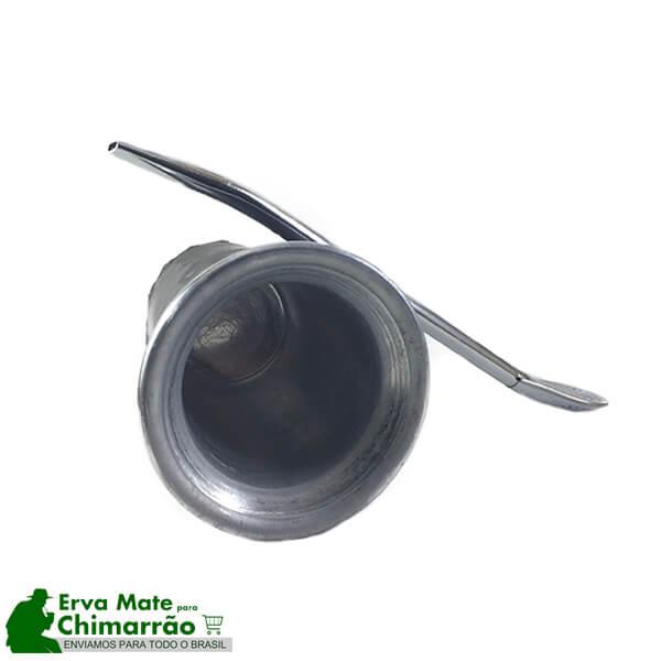 Copo Tereré Alumínio Couro Preto