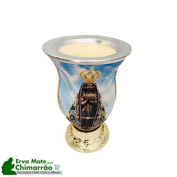 Cuia para Chimarrão Estampada Nossa Senhora