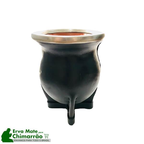 Cuia Torpedo Porcelana Especial com Bomba Inox Envelhecida
