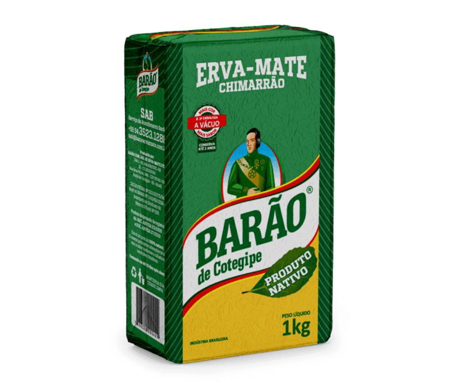 Erva-Mate Barão Nativa a Vácuo 1Kg