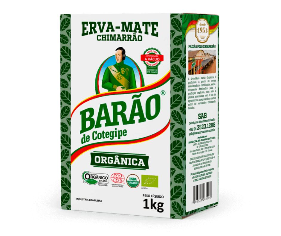 Erva-Mate Barão Orgânica a Vácuo 1Kg