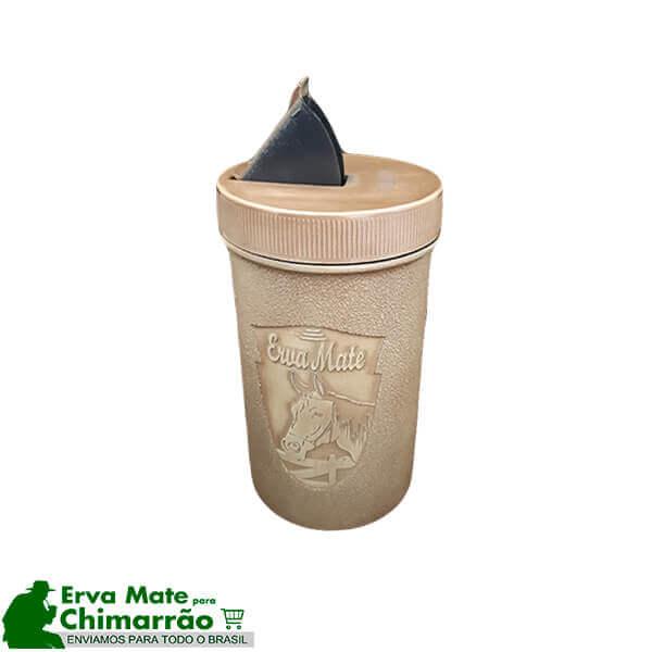 Porta Erva Tradicional Plástico Bege 500g