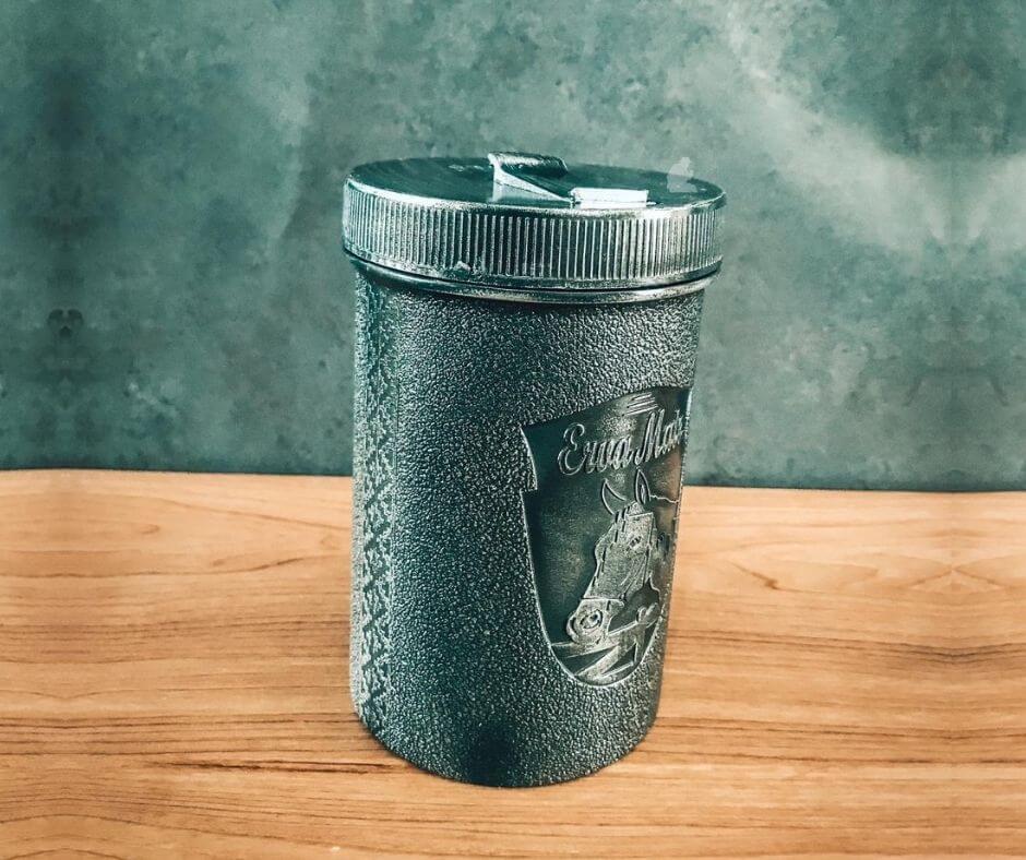 Porta Erva Tradicional Plástico Cinza 500g
