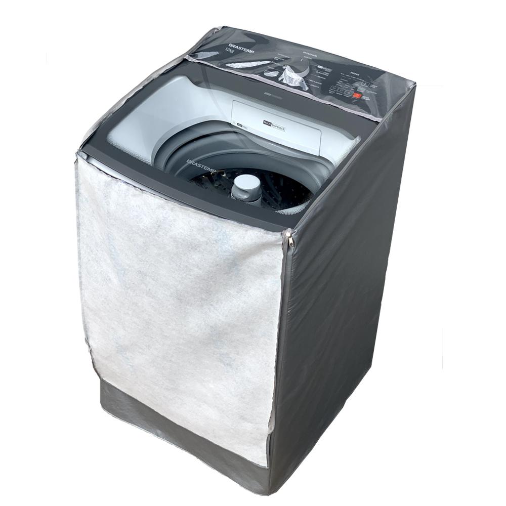 Capa Para Máquina de Lavar Brastemp 12Kg BWK impermeável com Zíper