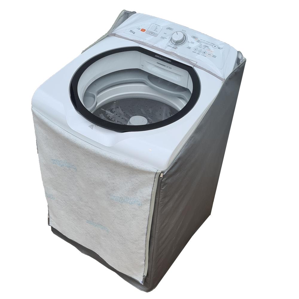 Capa Para Máquina de Lavar Brastemp 12kg  Superfiltro e Enxágue Antiarlégico
