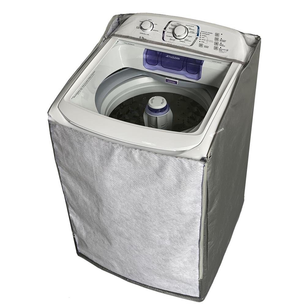Capa Para Máquina de Lavar Turbo Electrolux 17 Kg Branca com Capacidade Premium e Cesto Inox (LPR17)