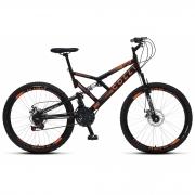 Bicicleta Colli GPS 220, Aro 26 Aero, 21 Marchas, Freios a Disco Dianteiro e Traseiro e Dupla Suspensão