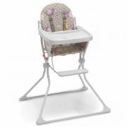 Cadeira para Refeição Galzerano Alta Standard Ursinha - 0 até 15kg - Bege e Rosa