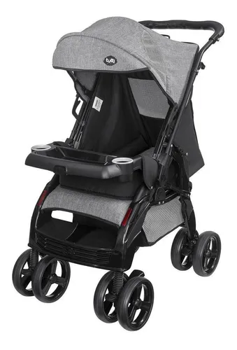 Carrinho De Bebe Tutti Baby - Silver US - preto/cinza