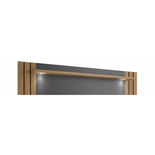 Painel com LED Incolar 180cm - Louro/Titânio