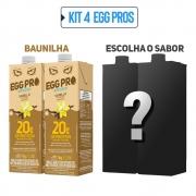 Kit 2 Egg Pro Baunilha + 2 Escolha Seu Sabor