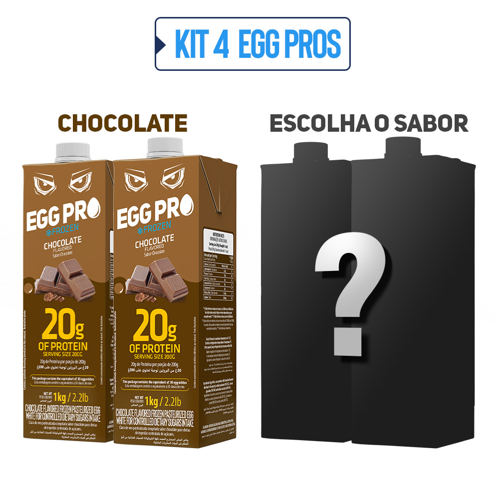 Kit 2 Egg Pro Chocolate + 2 Escolha Seu Sabor