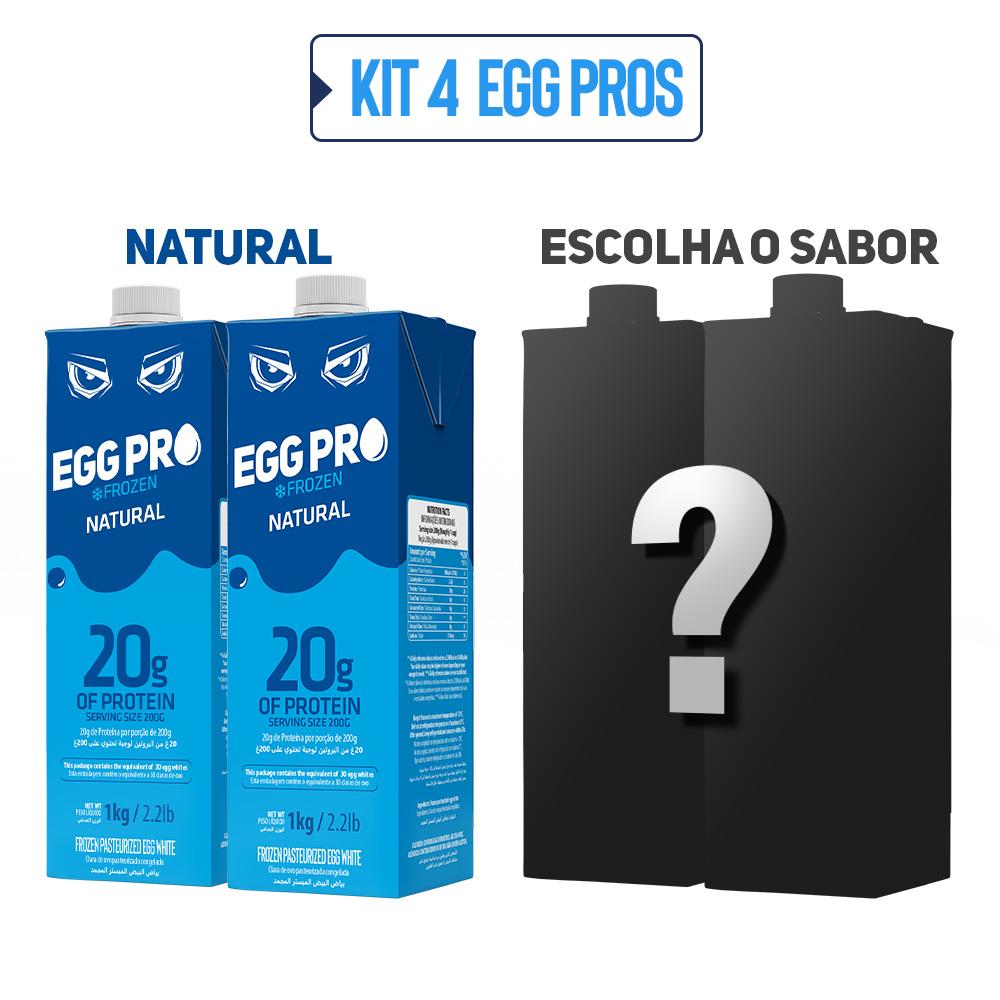 Kit 2 Egg Pro Natural + 2 Escolha Seu Sabor