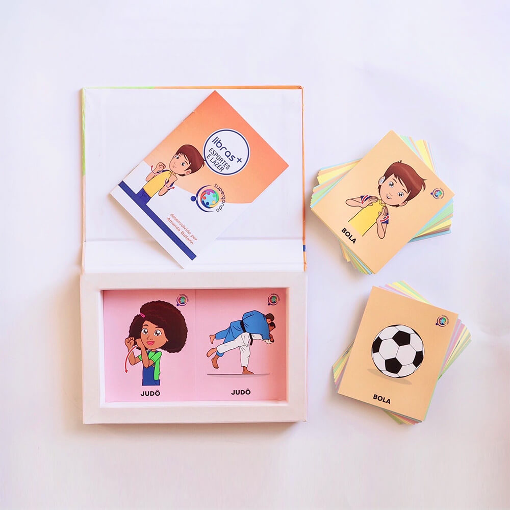 Livro/Jogo: Esportes e Lazer - Coleção  Libras +