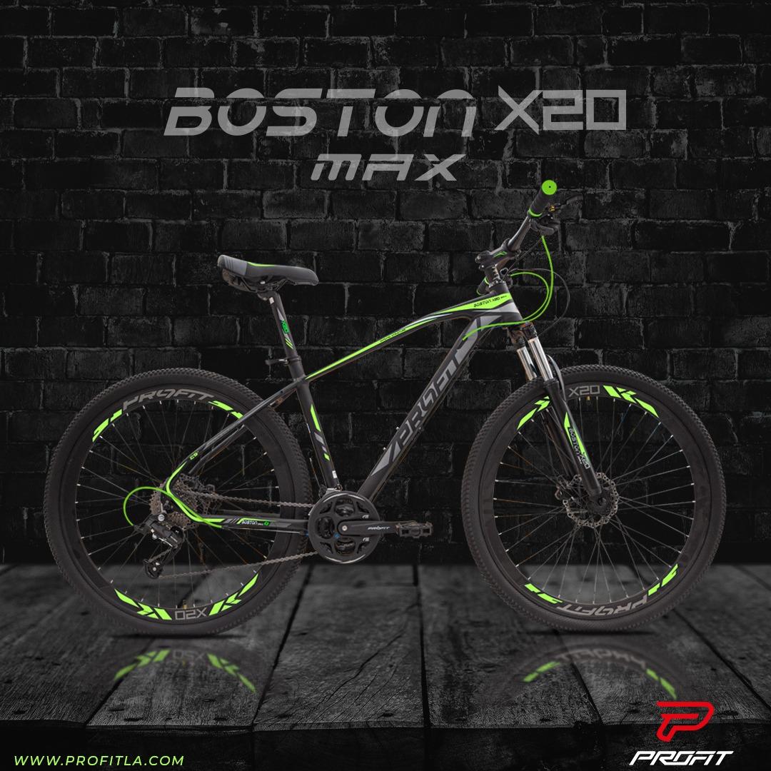 BICICLETA MTB PROFIT BOSTON X20 MAX TAM P PRETA/AMARELA