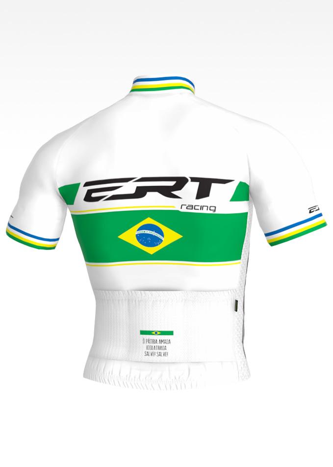CAMISA CICLISMO NEW ELITE ERT RACING CAMPEÃO BRASIL BRANCA
