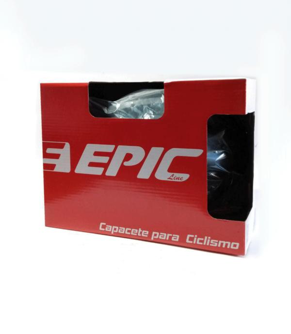 CAPACETE CICLISMO EPICLINE MV50-19 LED BRANCO