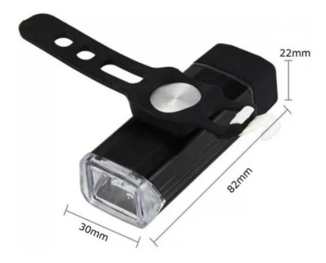 FAROL TSW COM CARREGADOR USB PORTÁTIL PRETO
