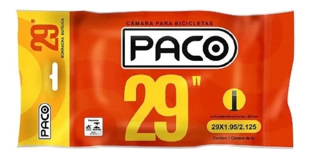 KIT 3 CÂMARAS CICLISMO PACO ARO 29 BUTÍLICA 48MM PRESTA
