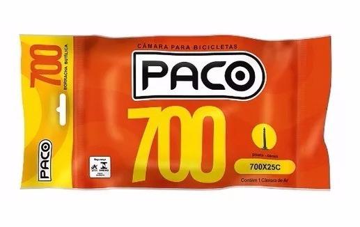 KIT 3 CÂMARAS CICLISMO PACO ARO 700 BUTÍLICA 48MM PRESTA