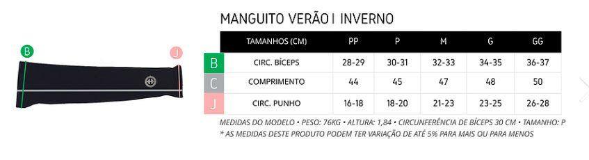 MANGUITO CICLISMO ERT AMARELO FLUORESCENTE TOTAL