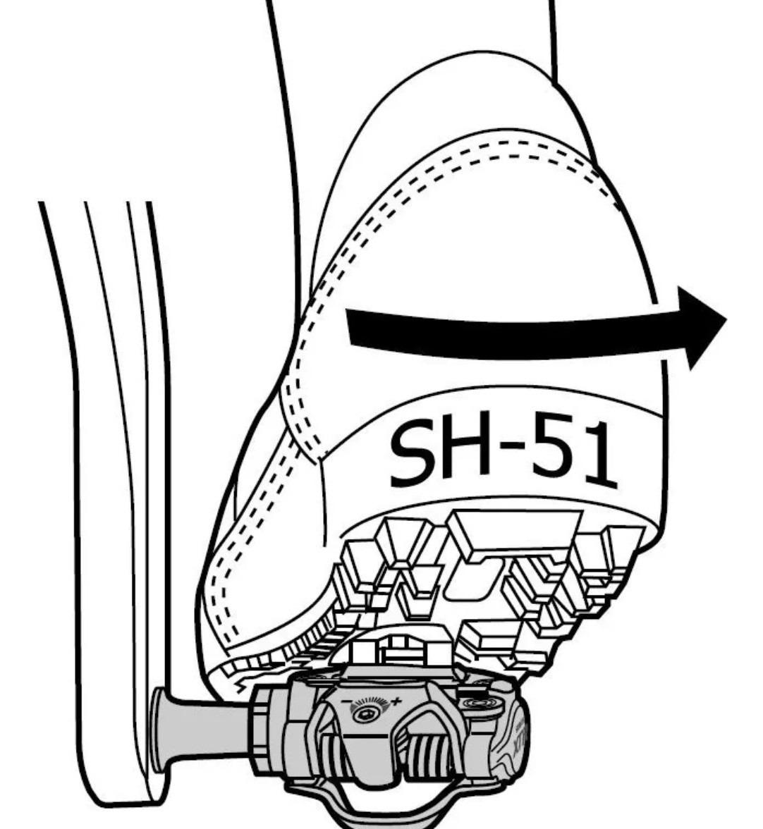 TAQUINHO PARA PEDAL MTB SM-SH51 SEM PORCA DE TACO