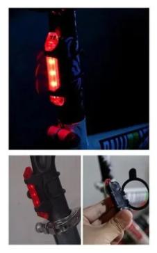 VISTA LIGHT EPL-TL5411BR 08-15 LUMENS LED VERMELHO USB PRETO EPICLINE