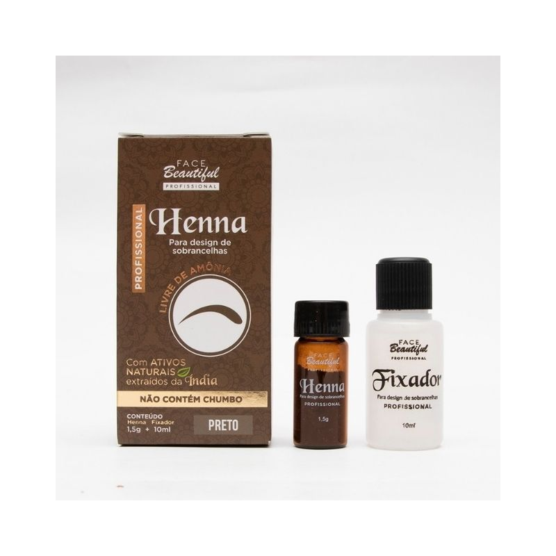 Henna Para Desing de Sobrancelha   - FACEBEAUTIFUL