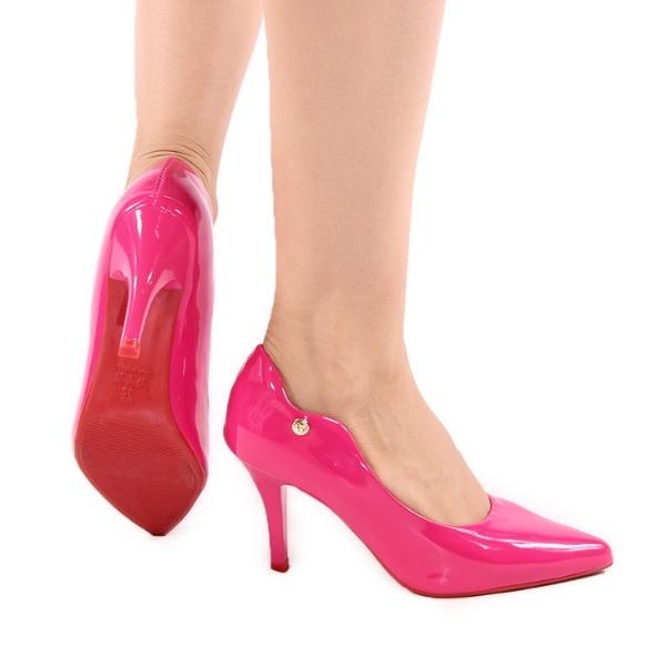 Scarpin Salto Alto Rosa Pink