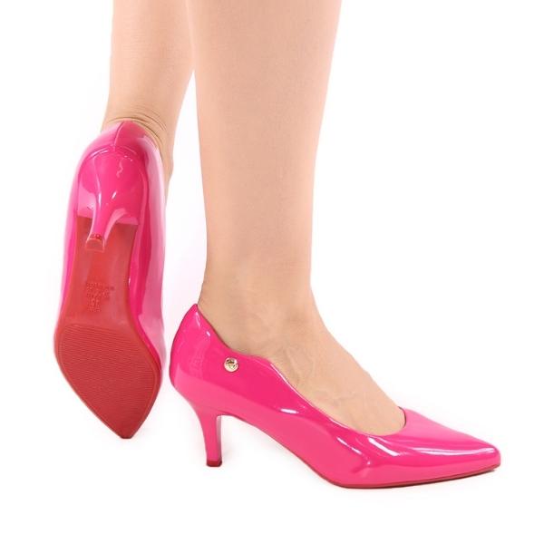 Scarpin Salto Médio Rosa Pink