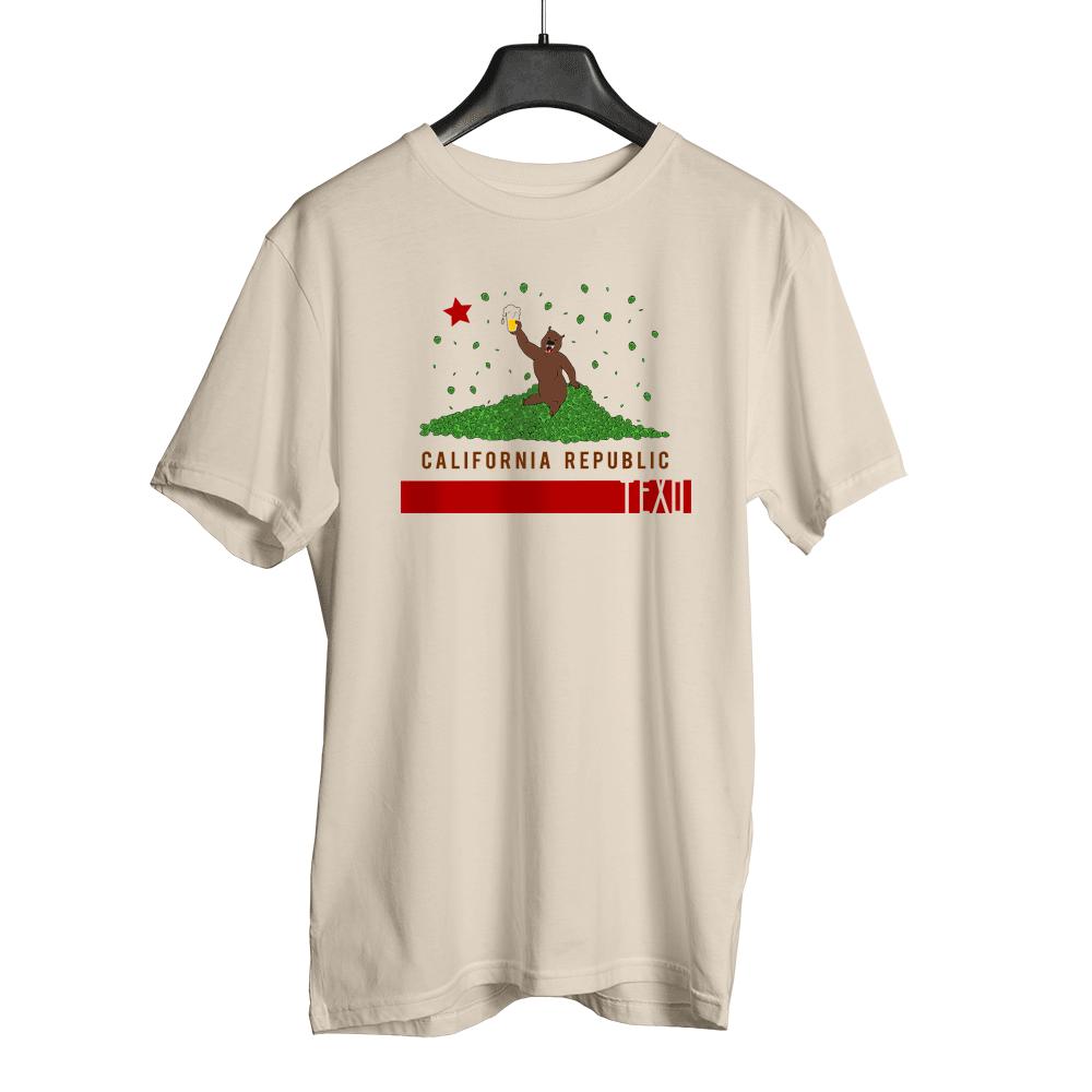 Camiseta Beer California Bege