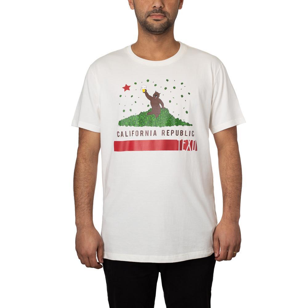 Camiseta Beer California Off White
