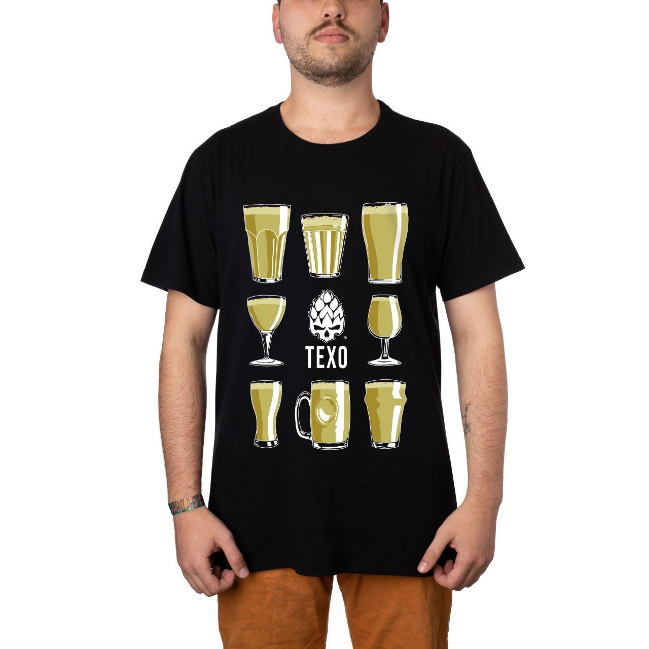 Camiseta Beer Glass Preta