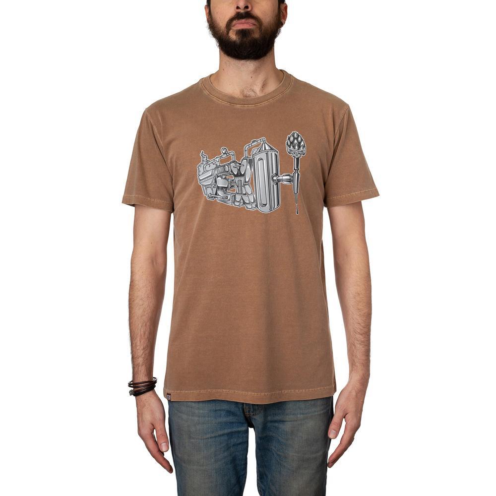 Camiseta Brewery Marrom Estonada